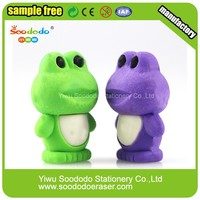 New Arrival Cheap Cute 3D Shaped Animal Frog Eraser