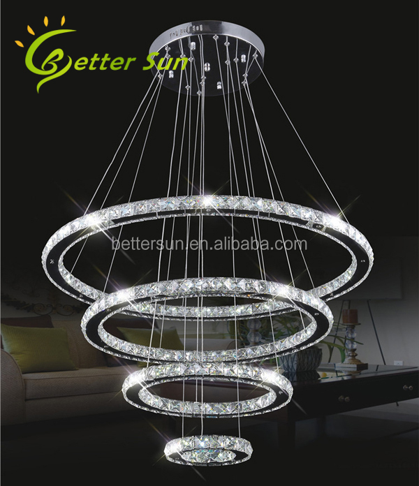 NEW Luxury Modern LED 3 Tier Round Crystal Chandelier Pendant Light
