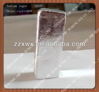 supply high purity 99.99% indium ingot for sale