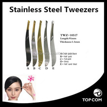 Hot selling Private Label gold-plating manicureTweezer