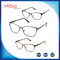EYEGLASS FRAME ITALY DESIGNER FASHION METAL EYEWEAR SPECTACLE FRAMES FOR WOMEN BIG SIZE GLASSES