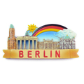 Custom 3d fridge magnet polyresin souvenir for berlin