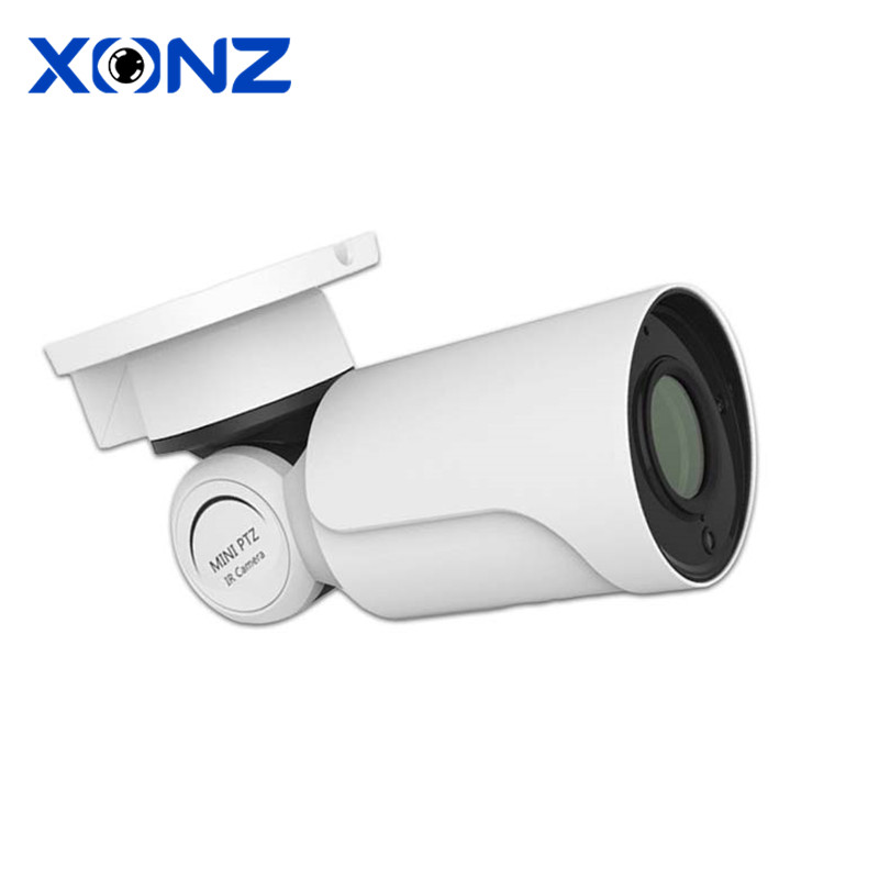 outdoor tilt and pan surveillance cctv camera ptz 12v array led 4mp and motorized zoom for night view