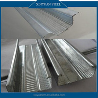 Supply Exposed Gypsum Board Galvanized Coated Metal Steel Stud/Track/Furring Channel for Drywall Partition Prices