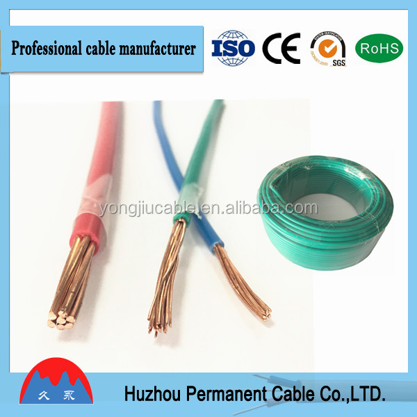 thhn/thwn electrical wire nylon cable with nylon cover outside ningbo factory best suppliler thhn/thwn electrical wire