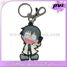 Pretty cartoon Custom soft pvc rubber cute keyrings for promotion