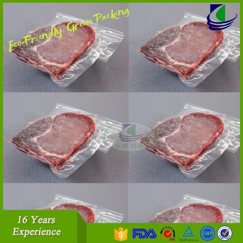 Gravure printed food packaging plastic vacuum poly bag for cheese packaging