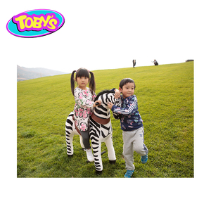 zebra toy animal ride mechanical horse toy walking animal