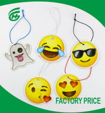 2017 High-Quality Hanging Emoji Paper Car Air Freshener With Long-Lasting Fragrance