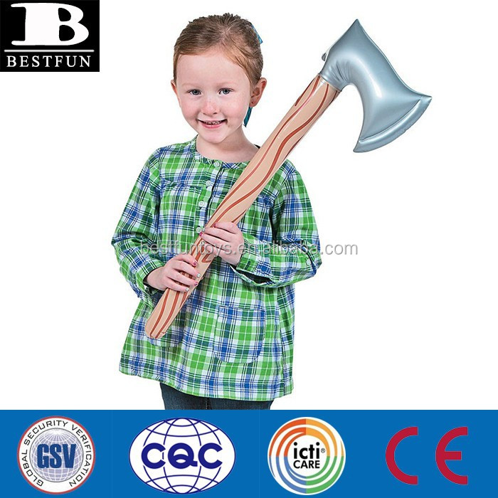 China supplier pvc inflatable axes toy custom plastic small blow up toys