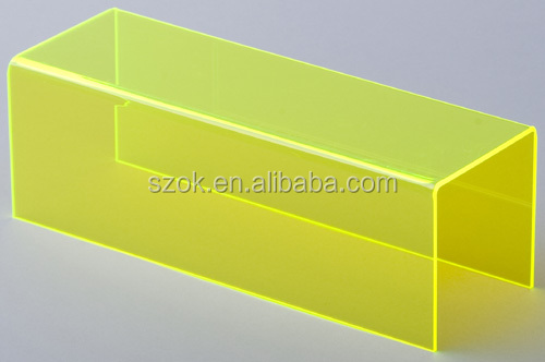 Yellow custom design acrylic riser online retail store wholesale