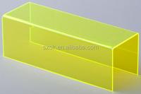 Yellow custom design acrylic riser online retail store wholesale