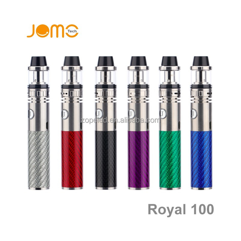 Overstock electronics Royal 100W ceramic atomizer shisha vape pen kits with 1600mah powerful battery Jomotech
