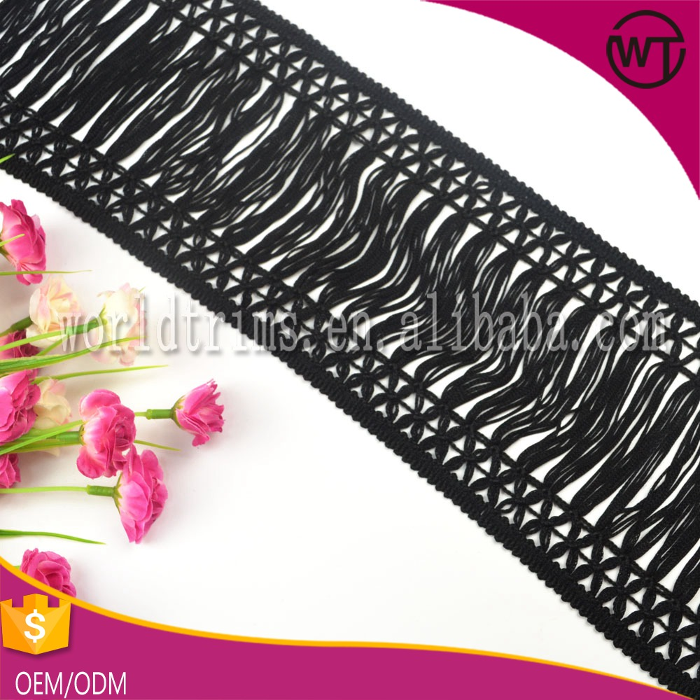 Hot sell rayon chainette fringe for shawl WFT10