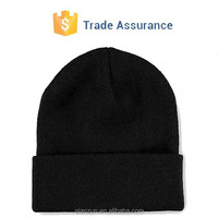 Kid Slouch Plain Black Winter Beanie Cap/Beanie Funny Winter Cap Hat