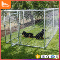Large outdoor hot sale strong hot dipped galvanized dog kennel