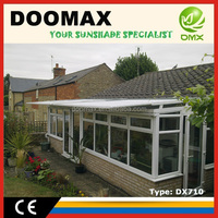 #DX710 Outdoor Steel Glass Canopy