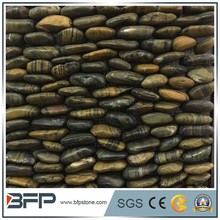 Natural pebble and cobbles, standing pebble mosaic tile for decoration