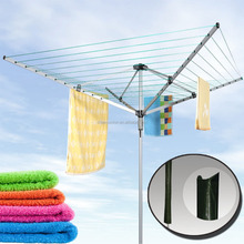4 ARMS ROTARY AIRER GARDEN WASHING LINE CLOTHES DRYER 30/40/45/50M + FREE COVER
