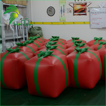 Christmas Inflatable Cube Model Boxing Balls / Decorative Inflatable Christmas Gifts