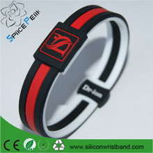 manufacturer wholesale price negative ion silicone energy bracelet two layer silicone bracelet