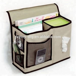 Multifunctional Bedside Phone Tissue Holder Magazine Hanging Storage Bag Bedside organizer