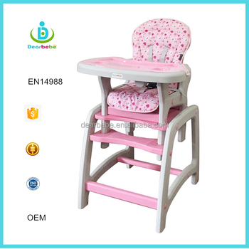 Infant Dinner Chair Kids Feeding Highchair For Sitting 2 In 1 Baby High Made