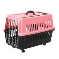 Comfortable foldable and soft fabric plastic pet airline dog carrier