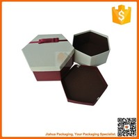 hexagon shape gift box with lid
