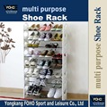 SR0068 2016 hot sale 8 layers standing shoe rack storage organizer white color