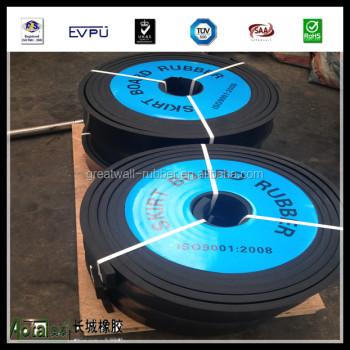 cut rubber sheet and rubber skirt board
