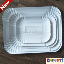 Disposable food grade fancy large Paper Plates for food pizza nuts