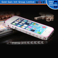 Luxury Electroplating Diamond Bumper Case For iPhone 5G, Soft TPU Diamond Protective Bumper Frame Case For iPhone 5G
