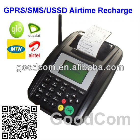 GoodCom GT5000S Remote topup printer. GPRS GSM Fixed wireless terminal for recharge