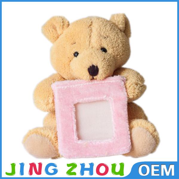 Custom Animal Photo Frame Toy, plush teddy bear photo frame