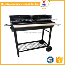 2017 Commercial hot sale large portable charcoal gril with barrel barbecue grill designs