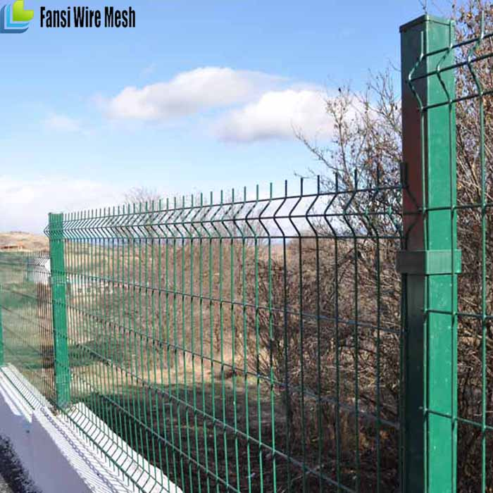 Acacia panels 50x75mm rectangles roll round top welded mesh fence panel