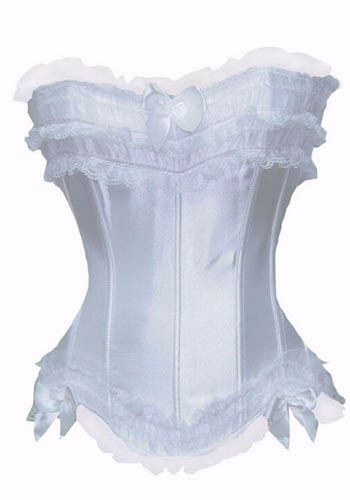 Purple White Waist Training Corset Sexy Overbust Corset Lace Top Women Bustier Bow Corpete Gothic Corselet Body Shaper Corsage