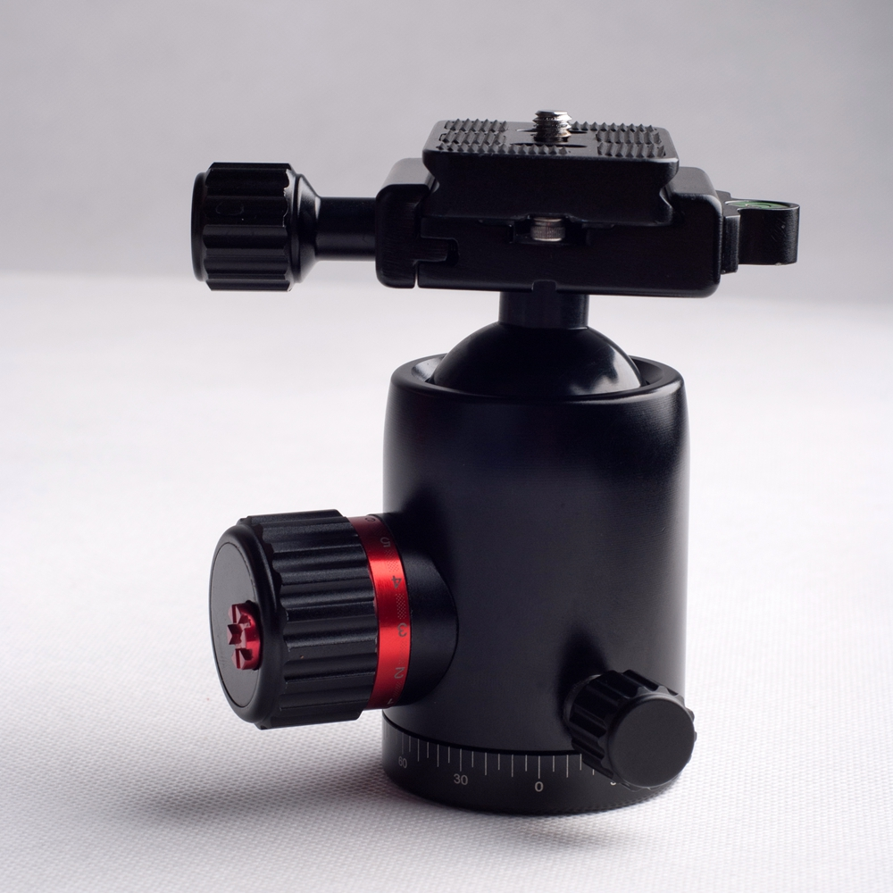 Professional carbon fiber tripod ball head joint with arca swiss plate for Nikon Canon camera
