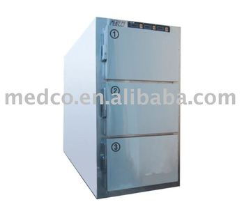 Mortuary undertaker's 3 Corpses stainless steel cold storage,corpse freezer,3 death cadaver refrigerator,for hospital