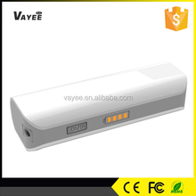 Cheap promotional gift factory customize design 2600mah power bank with led light