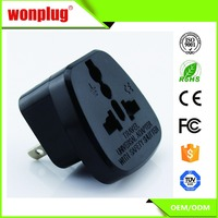 2 pin Universal to USA/Japan plug adapter with safety shutter