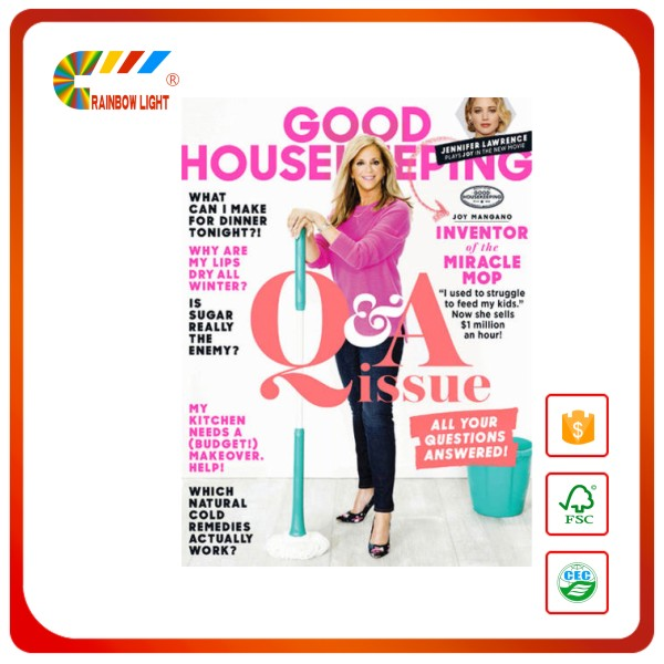 Wholesale coated art paper A4 cheap magazine printing with high quality