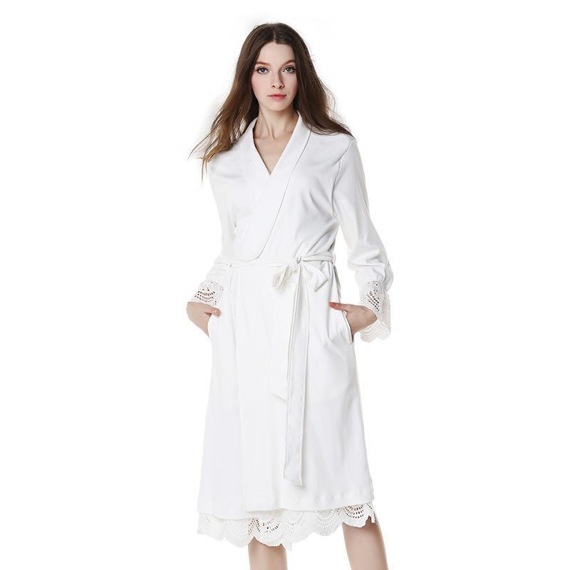 2017 spring women's fashion sleepwear warm lounge bathrobe