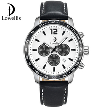 Lowellis custom chronograph waterproof elegant sport watch