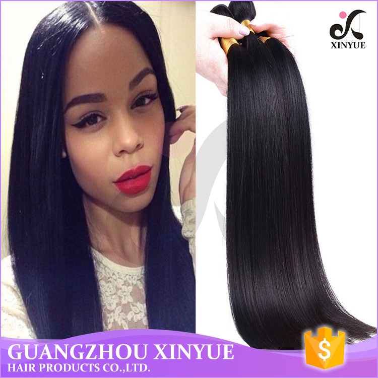 Top Quality Virgin Human Hair Straight Hair Weave From Cambodia