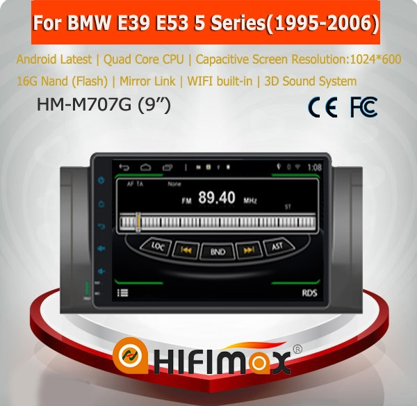 Hifimax 9inch Android 2 din car radio gps for bmw e39 e53 on sale for bmw e39 radio car multimedia for bmw E39