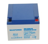 New Arrival 12v ups rechargeable battery 26ah Sealed Lead Acid battery