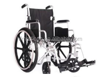 Foldable light weight steel wheel chair