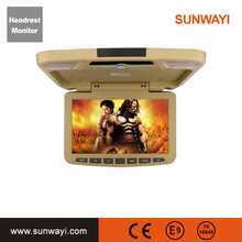 10.1 Inch TFT Digital LCD Screen Car Headrest DVD Player Touch Button Monitor 800*480 with HD USB SD Port Remote Control